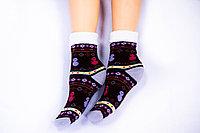 Термоноски подростковые, снеговик коричневый, р-р18-22