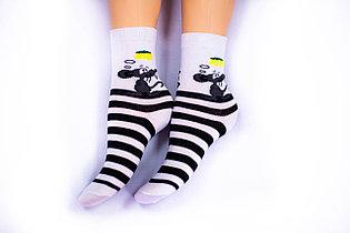 Носки подростковые, белые, р-р18-22