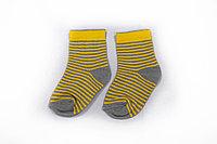 Носки детские, 1+1 желтые, р-р 12-16