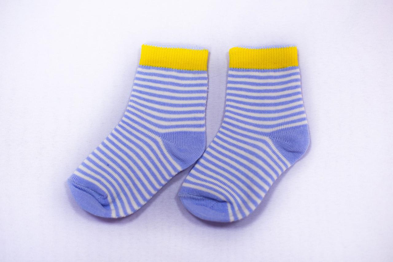 Носки детские, 1+1 голубые, р-р 12-16
