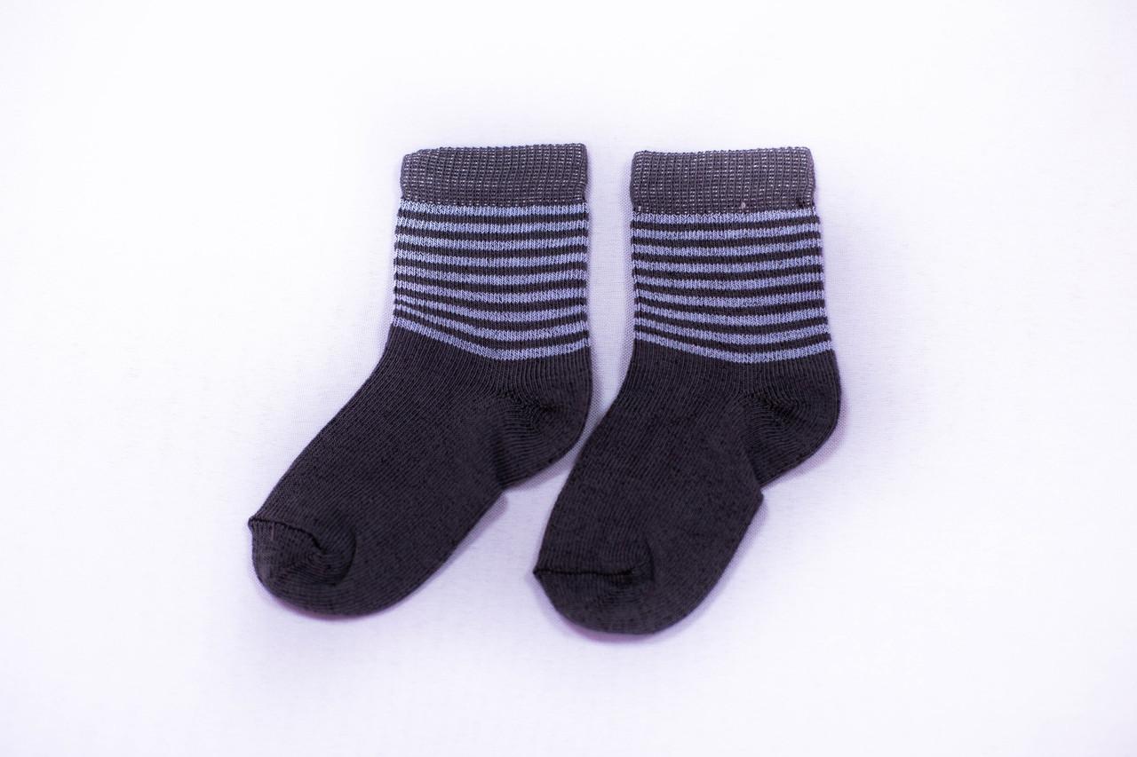Носки детские, серые в полоску, р-р12-16