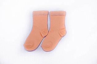 Носки детские, однотонные персик, р-р 12-16