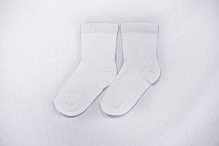 Носки детские, однотонные белые, р-р 12-16
