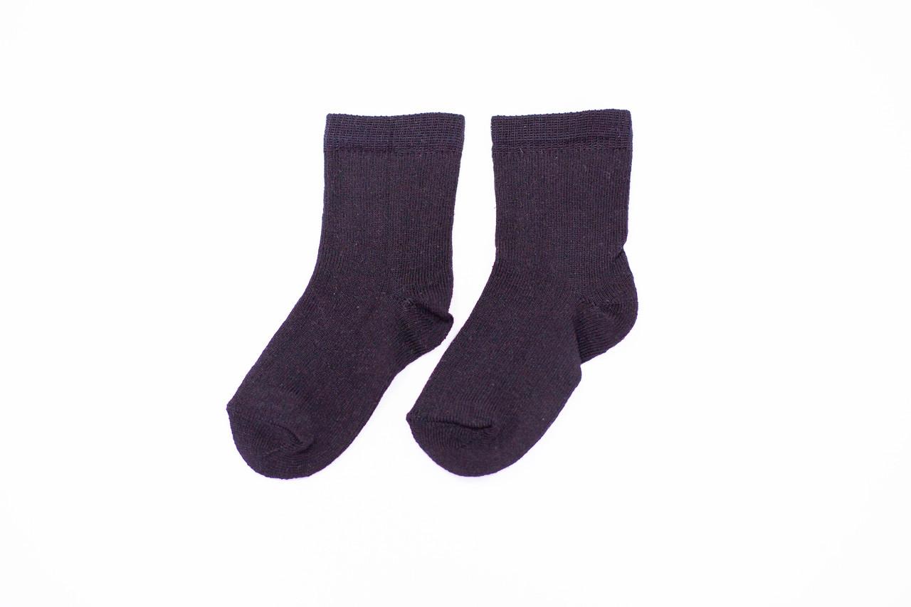 Носки детские, однотонные черные, р-р 12-16