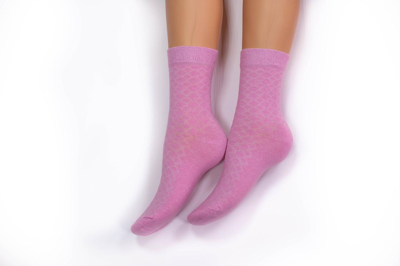 Носки женские, однотонные розовые , р-р 36-40