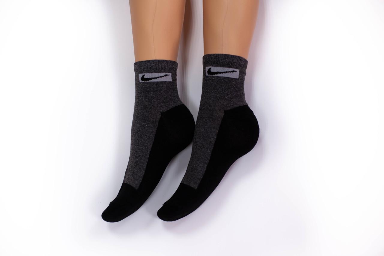Носки женские, спорт удлиненные темно-серые, р-р 36-40