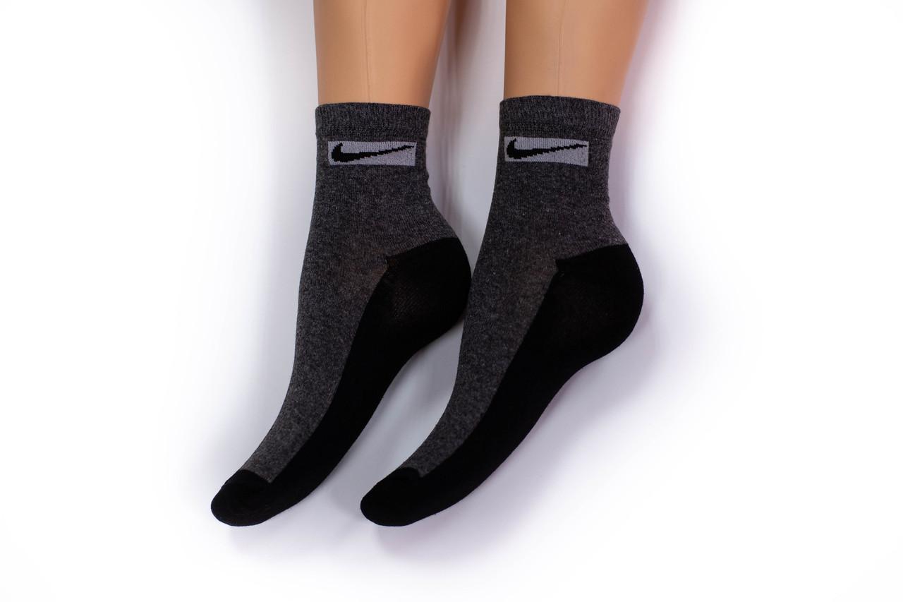 Носки мужские, спорт удлиненные темно серые, р-р 40-44