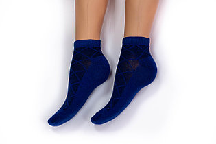 Носки женские, спорт сетка синие, р-р 36-40