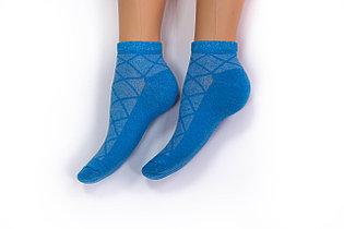 Носки женские, спорт сетка голубые, р-р 36-40