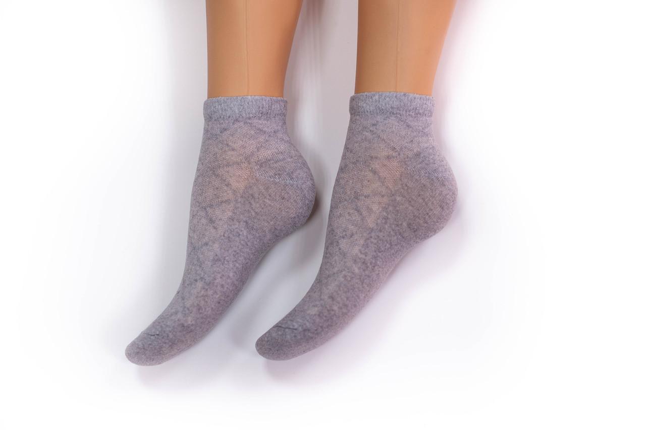 Носки женские, спорт сетка серые, р-р 36-40