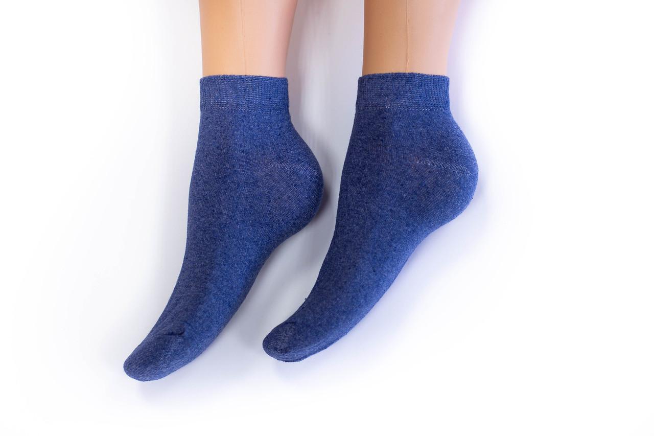 Носки женские, спорт однотонные синие, р-р 36-40