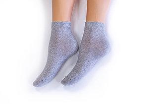 Носки женские, спорт однотонные серые, р-р 36-40