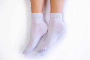 Носки женские, спорт однотонные белые, р-р 36-40