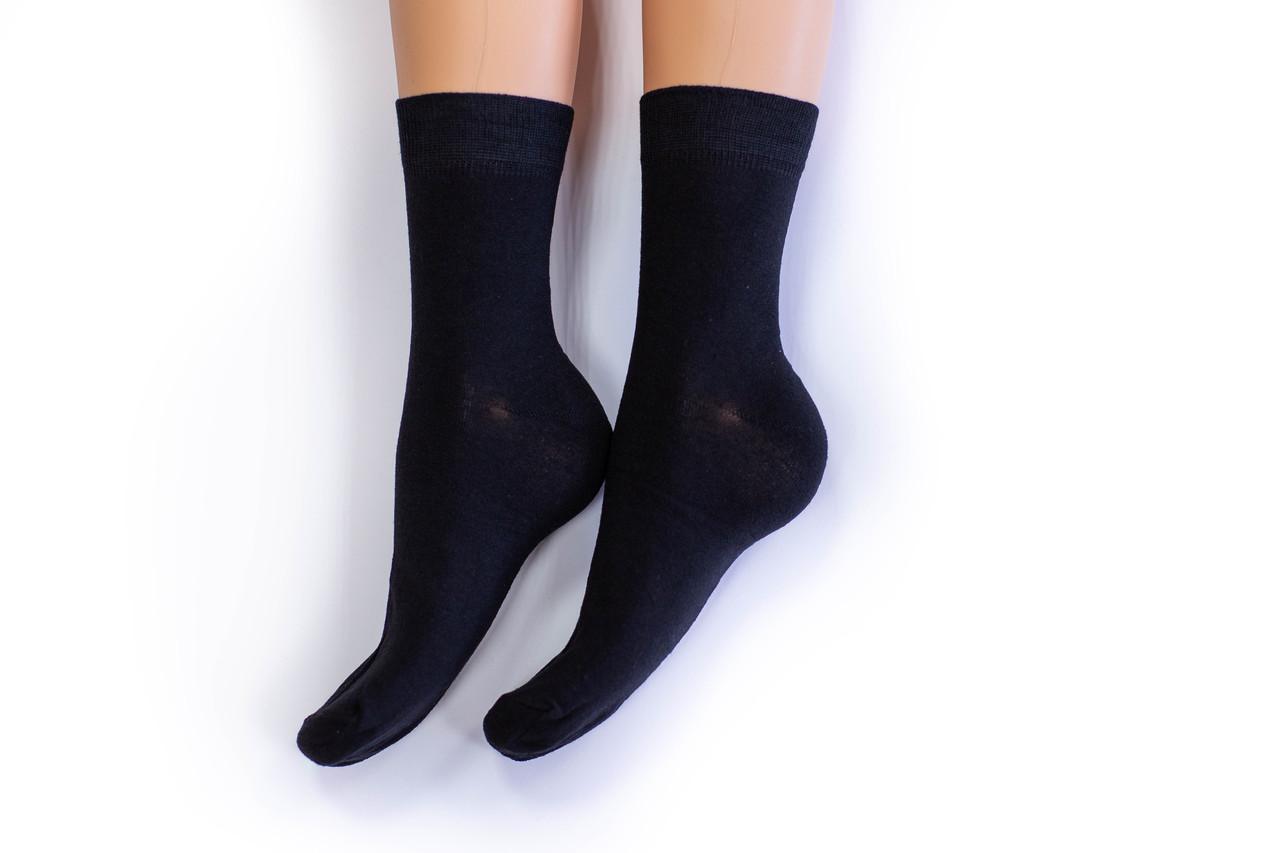 Носки мужские, однотонные черные, р-р 41-43