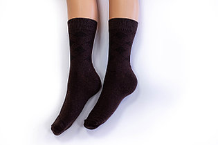 Носки мужские, однотонные коричневые, р-р 41-43