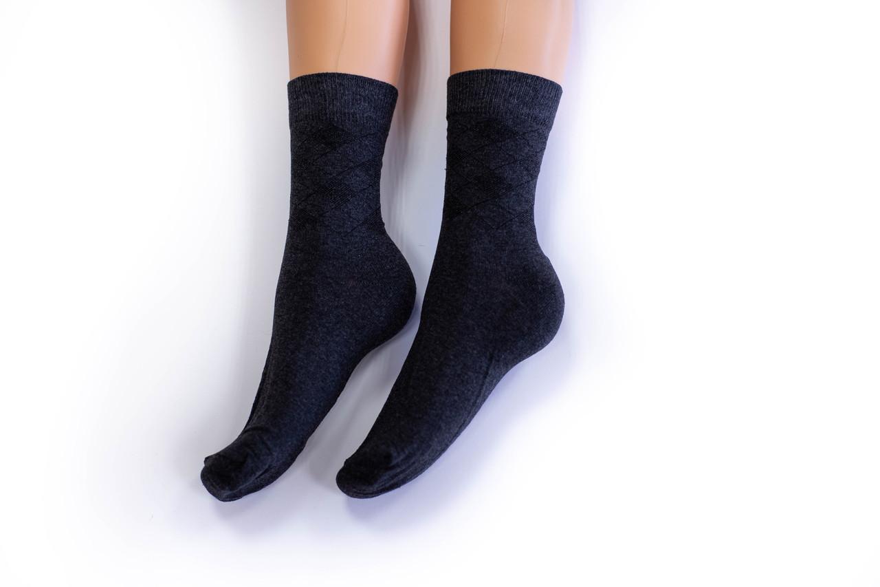 Носки мужские, однотонные темно серые, р-р 41-43