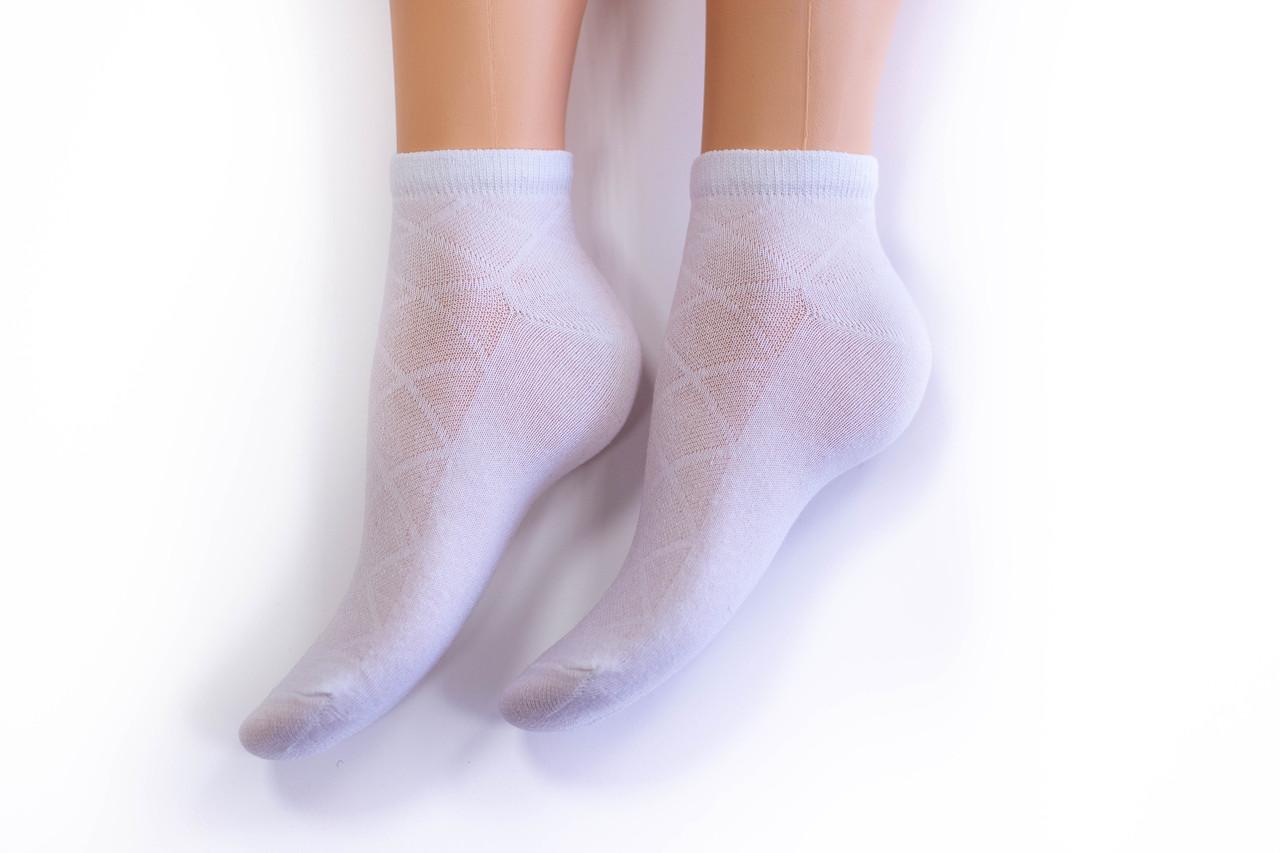 Носки женские, спорт сетка белые, р-р 36-40