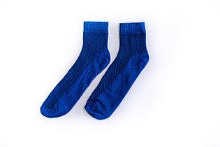 Носки мужские, спорт сетка однотонные синие, р-р 40-44