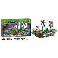 BELA Minecraft Сражение на корабле 11139 (Аналог LEGO Minecraft) 630 деталей, фото 1