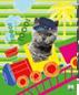 """Бумага цв Игр наб д/дет тв 8цв 8л скр А4 9311-EAC """"Кот в поезде"""""""
