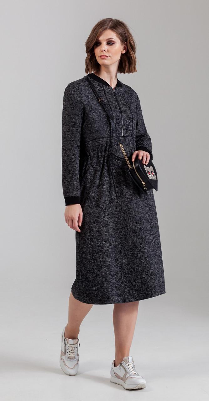 Платье Anna Majewska-1257, черный, 48