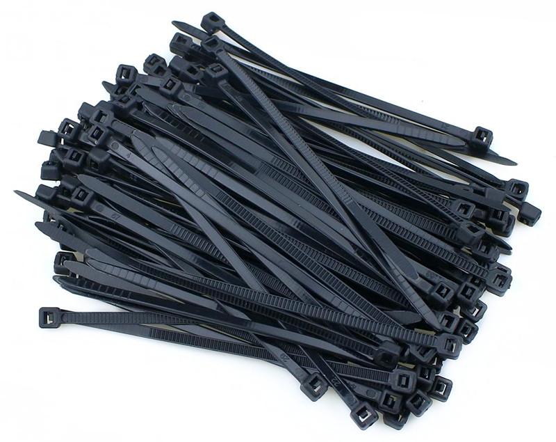 Хомут нейлоновый MATEQUS для стяжки, 2.5х150 мм, черный, 100 шт.