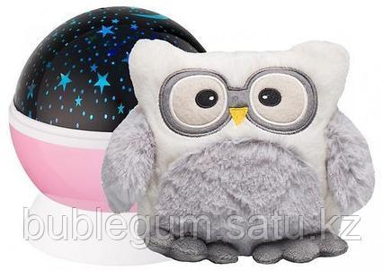 Ночник-проектор звездного неба Roxy Kids с игрушкой Little Owl Розовый + плюшевая Сова