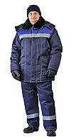 "Костюм зимний ""ВЬЮГА"" куртка/полукомб. цвет: т.синий/василек, фото 1"