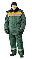 """Костюм зимний """"ВЬЮГА"""" куртка/полукомб. цвет: т..зелёный/жёлтый"""