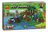 """Конструктор Bela 10961 """"Дрессировка обезьян"""" (аналог Lego Майнкрафт, Minecraft), 226 деталей, фото 1"""