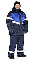 "Костюм зимний ""ВЕКТОР"" куртка/полукомб. цвет: т.синий/василек"