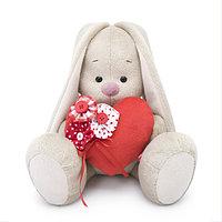 """Мягкая игрушка """"Zaika Mi"""" Зайка Ми с красным сердечком (малый)"""