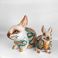 Декоративная статуэтка кролика, ручная керамика, Италия