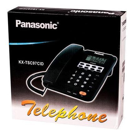 Телефонный аппарат с LCD-экраном Panasonic KX-TSC97CID (Черный), фото 2