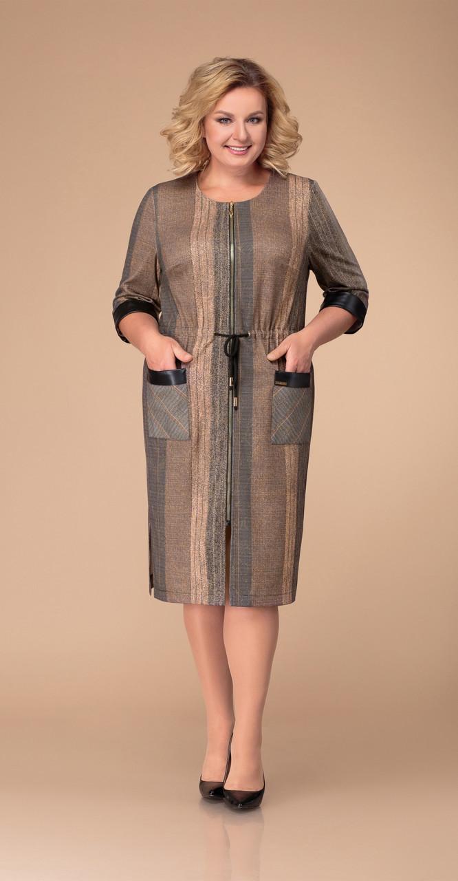 Платье Svetlana Style-1271, серо-коричневые тона, 54
