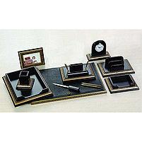Набор настольный 9 предметов, дерево, черный/бордовый, отделка золотом Grand, фото 3
