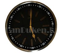 Настенные часы большие серебристый корпус золотистый циферблат