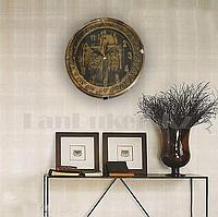 Настенные часы Quart Clock чёрно золотистый корпус 741