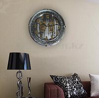 Настенные часы Quart Clock чёрно серебристый корпус 741