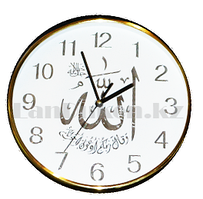 Настенные часы Quart Clock золотистый корпус 8821