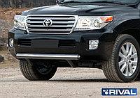 Защита переднего бампера 75х42 короткая овал Toyota Land Cruiser 200, 2011-2015