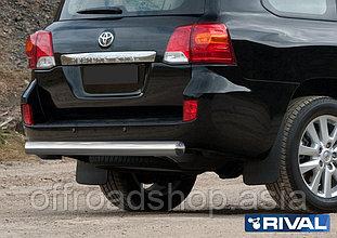 Защита заднего бампера 75x42 овал Toyota Land Cruiser 200, 2011-2015