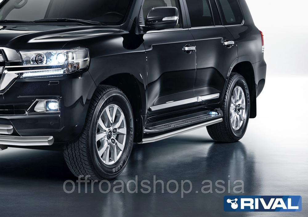 Защита штатного порога d57 Toyota Land Cruiser 200, 2011-2015