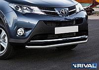 Защита переднего бампера d57 Toyota Rav 4, 2013-2015