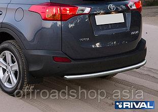 Защита заднего бампера d57 Toyota Rav 4, 2013-2015