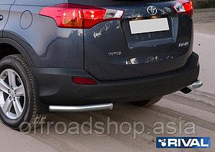 Защита заднего бампера d57 уголки Toyota Rav 4, 2013-2015