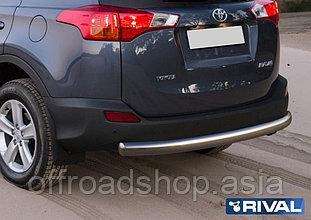 Защита заднего бампера 75x42 овал Toyota Rav 4, 2013-2015