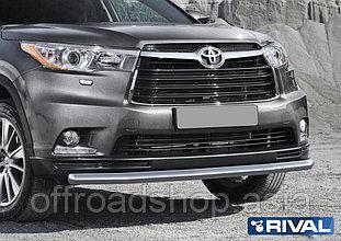 Защита переднего бампера d57 Toyota Highlander, 2017-