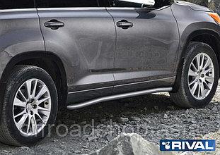 Защита порогов d57 Toyota Highlander, 2017-
