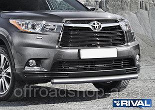 Защита переднего бампера d57 Toyota Highlander, 2014-2017